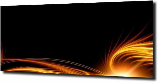 obraz na szkle Abstrakcja zółty pomarańcz43