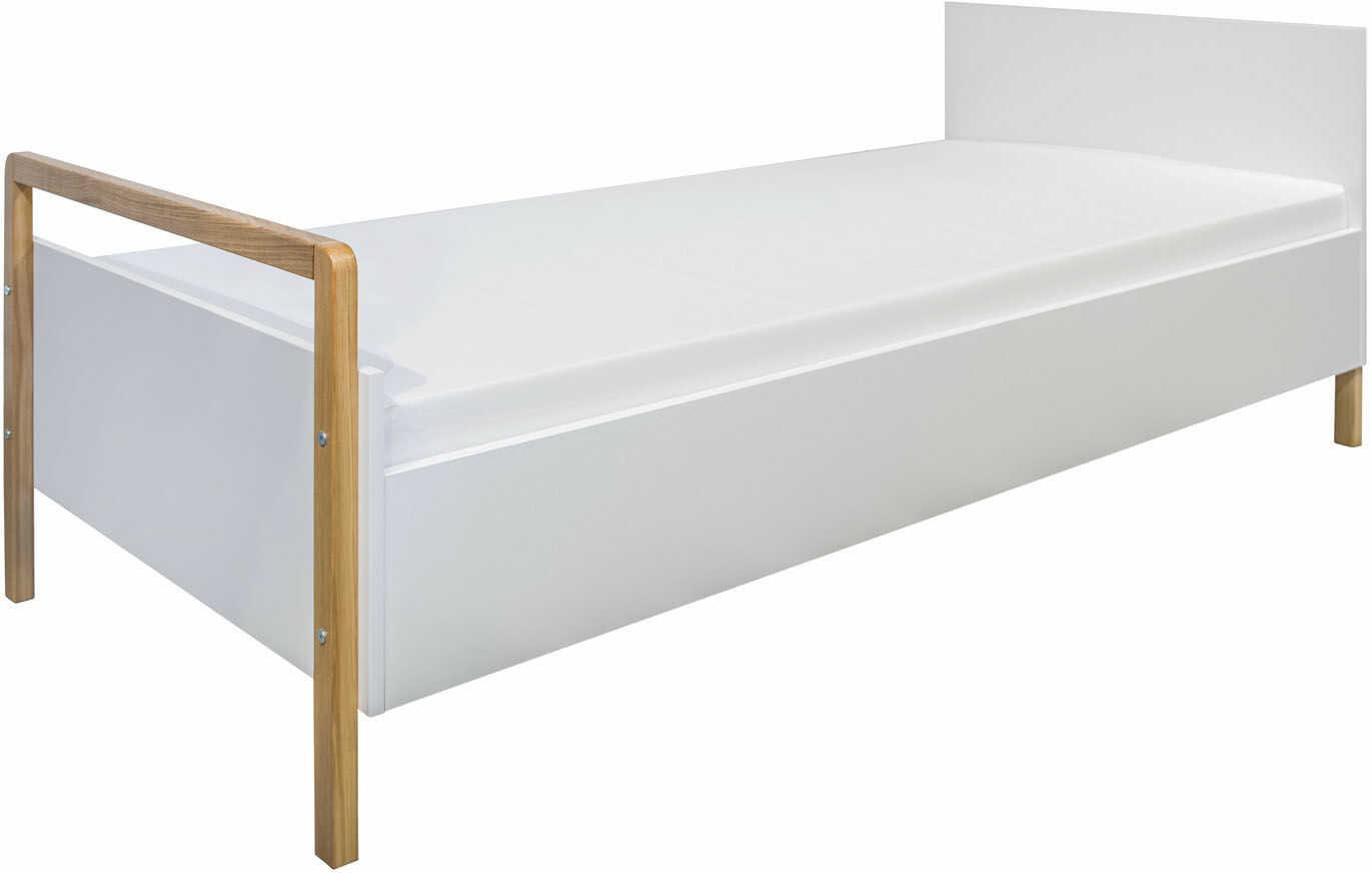 Białe nowoczesne łóżko dziecięce - Benny 2X