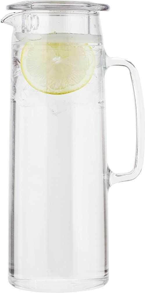 BODUM 11575-10S dzbanek do herbaty z lodową zieloną herbatą, przezroczysty, 1,2 l, 40 uncji (10 x 14 x 27 cm)
