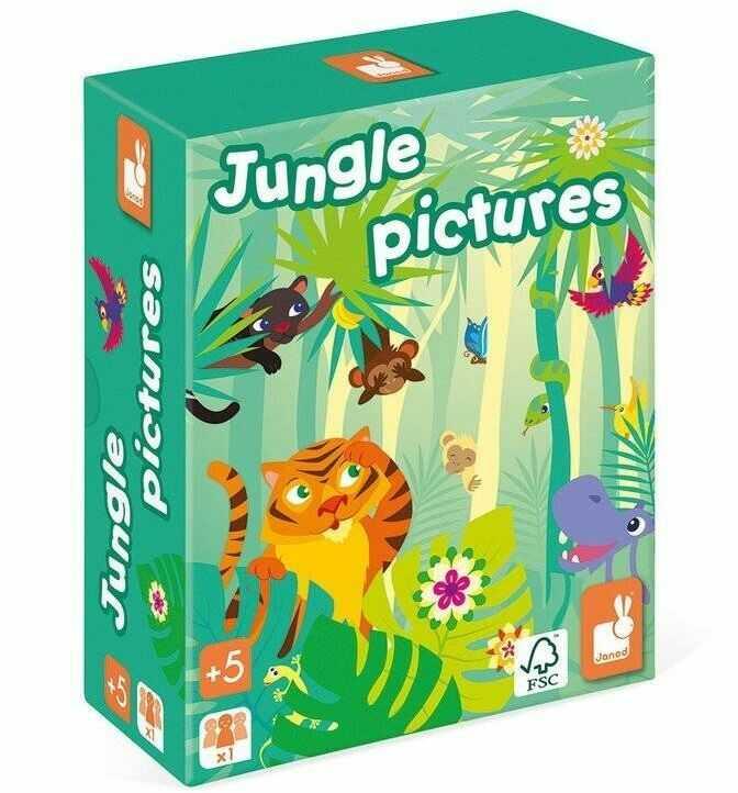 Janod - Gra pamięciowa Obrazki z dżungli