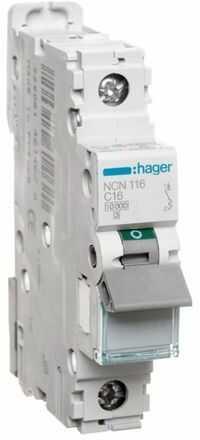 Wyłącznik nadprądowy 1P C 16A 10kA AC NCN116