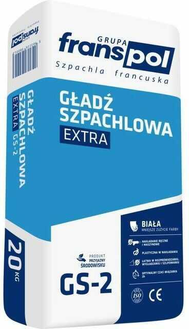 Gładź szpachlowa Extra GS-2 Franspol 20 kg