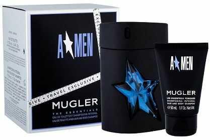 Thierry Mugler A Men w Gumie żel do kąpieli 50ml + woda toaletowa Refillable - 100ml