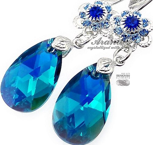 Kolczyki Kryształy Blue Zircon Feel Srebro