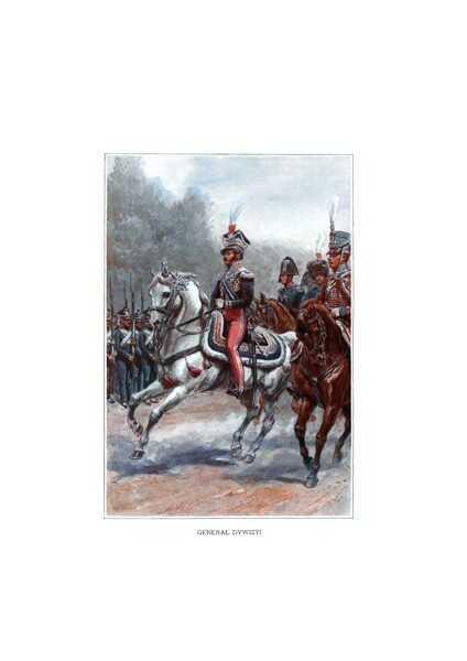 Plakat A3 Wojsko Polskie - Księstwo Warszawskie - Generał Dywizyi