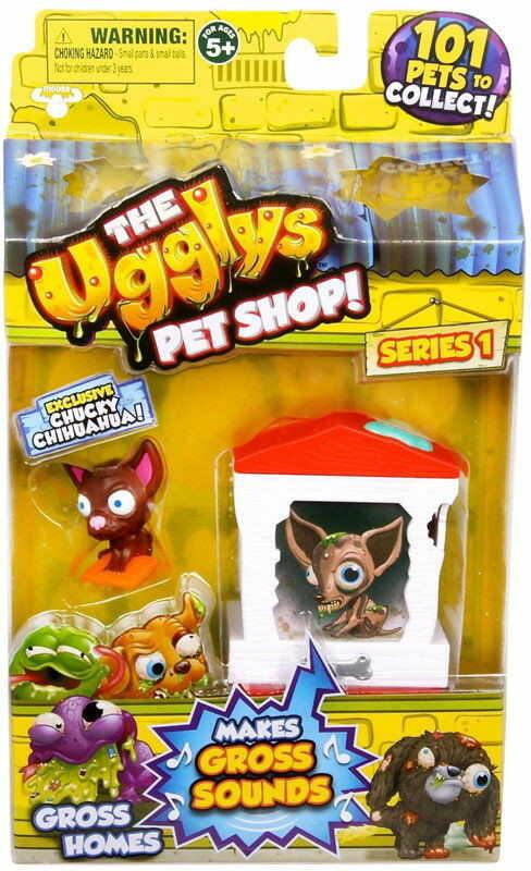 The Ugglys Pet Shop - Mini Paskudniak Chucky Chihuahua z domkiem 19411