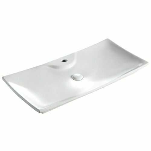 Umywalka ceramiczna 80x39,5x7,5 cm nablatowa / naszafkowa