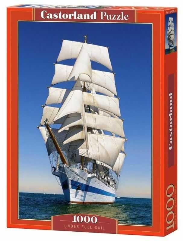 Puzzle Castor 1000 - Pod pełnymi żaglami, Under Full Sail