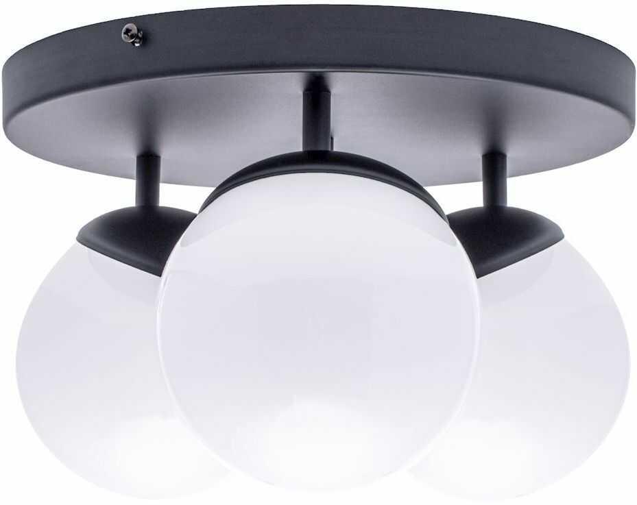 Milagro SFERA BLACK MLP8858 plafon lampa sufitowa czarny klosze kule szkło 3xE14 35cm