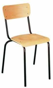 Krzesło szkolne KD drewniane siedzisko i oparcie