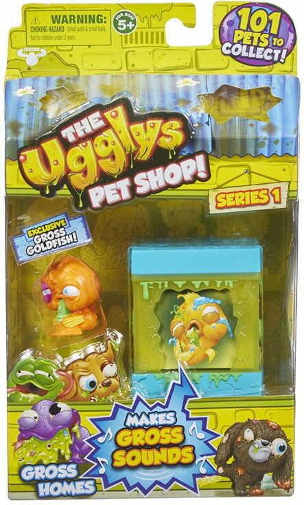 The Ugglys Pet Shop - Mini Paskudniak Gross Goldfish z domkiem 19411