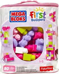 Mega Bloks First Builders - Różowa Torba z klockami DCH62 CYP72