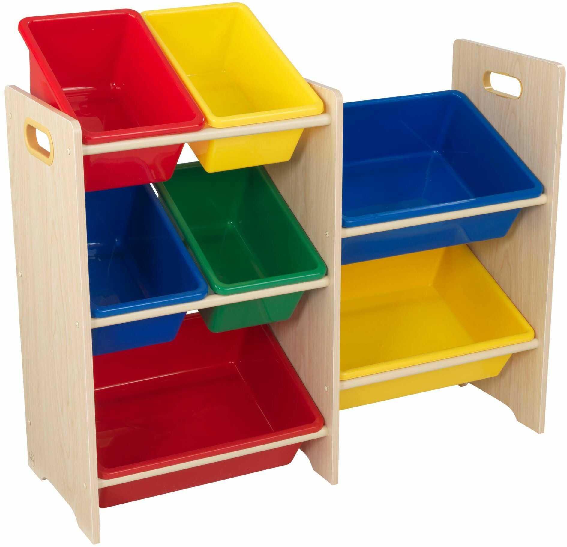 KidKraft 15470 system do przechowywania z 7 pudełkami, kolor biały
