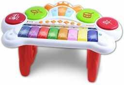 Bontempi 131025 elektroniczna keyboard ze stopkami, pusty/róż/pomarańczowy/jaune