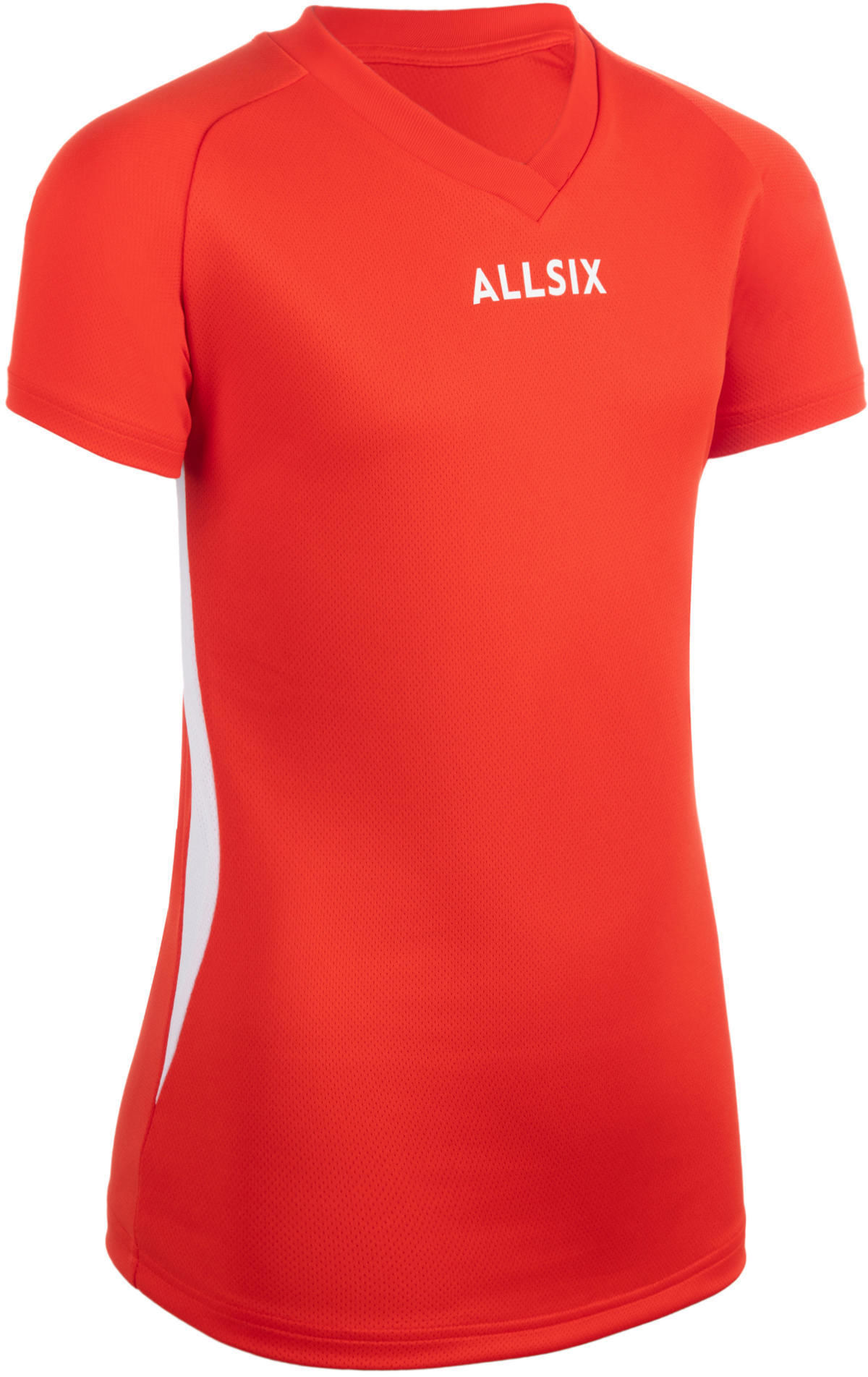 Koszulka siatkarska dla dziewczynek Allsix V100 czerwona