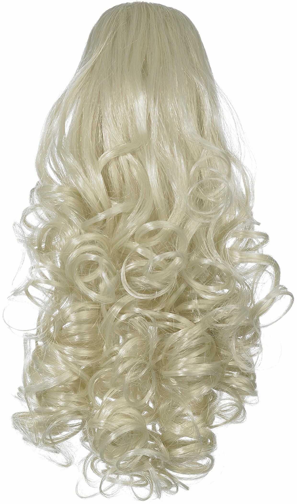 Love Hair Extensions sztuczne włosy koński ogon Curly z zaciskiem krokodylkowym 30,5 cm, 18 Ash Blonde