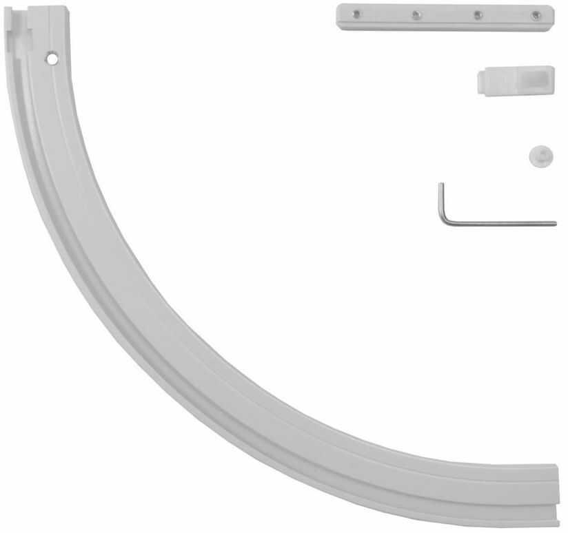 Łuk prawy do szyny sufitowej HELSINKI 20 cm biały GARDINIA