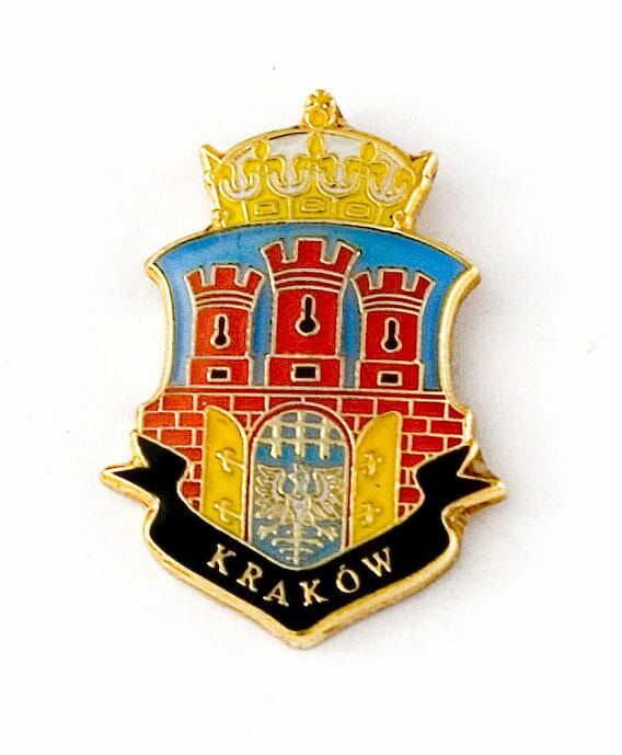 Herb Kraków - przypinka