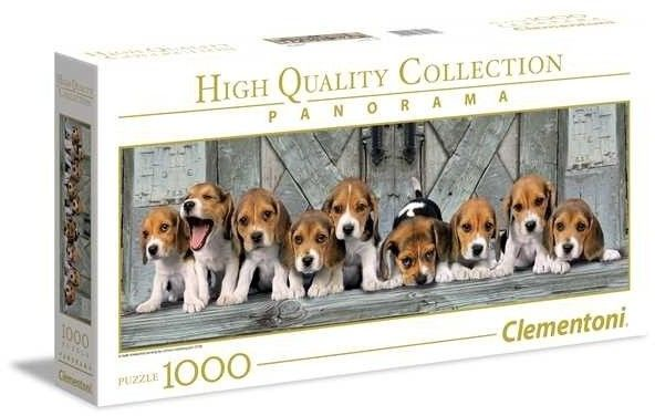 Puzzle Clementoni 1000 - Szceniaczki Psa Gończego, Beagles