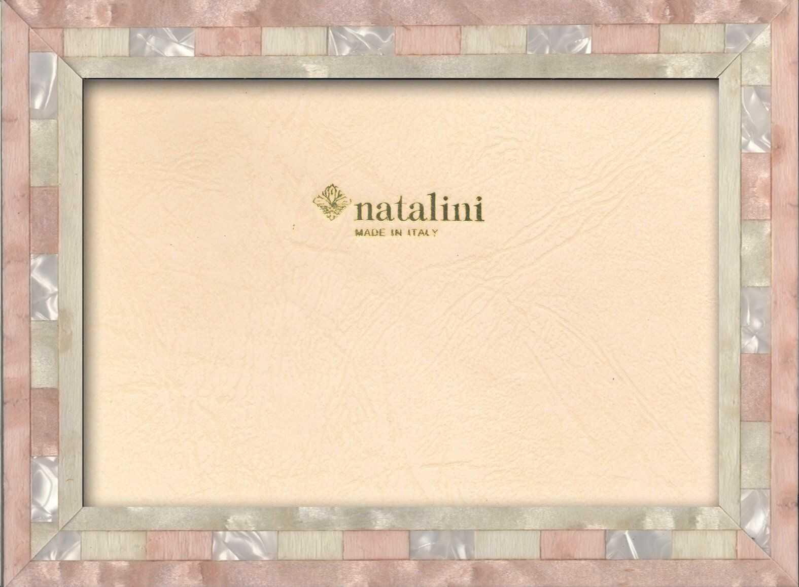 Natalini Marquetry ramka na zdjęcia wyprodukowana we Włoszech, tulipan, róża, 12 cm x 18 cm