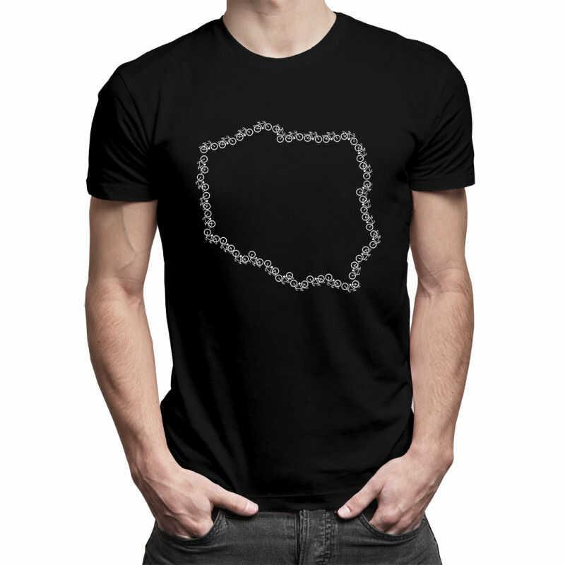 Rowerowa Polska - męska koszulka z nadrukiem