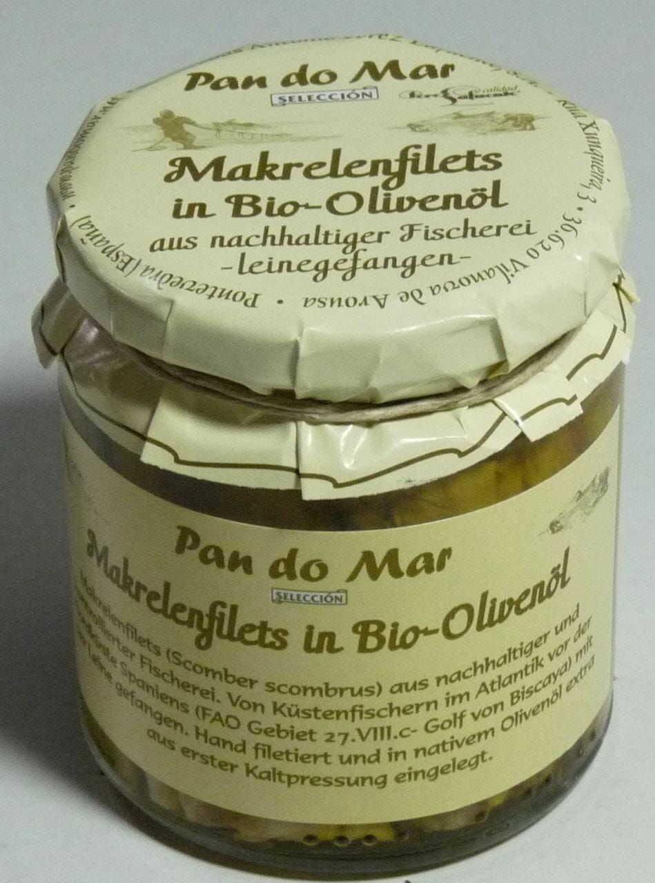 Makrela w bio oliwie z oliwek 220 g - pan do mar