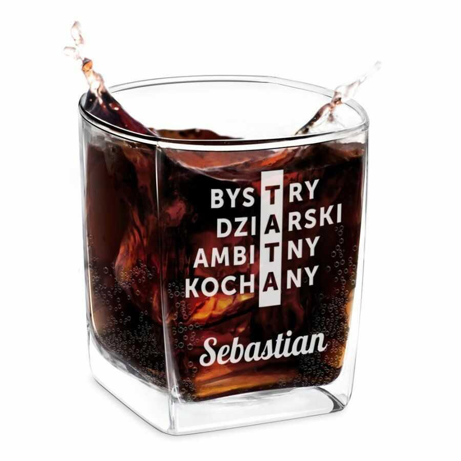 Szklanka do whisky z grawerem krzyżówka dla taty