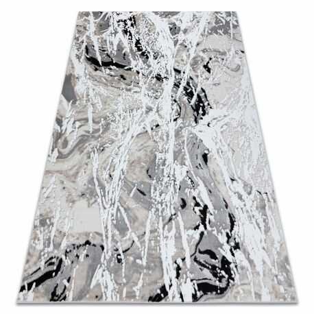 Dywan GLOSS nowoczesny 8488 37 Abstrakcja stylowy, glamour beż / szary 80x150 cm