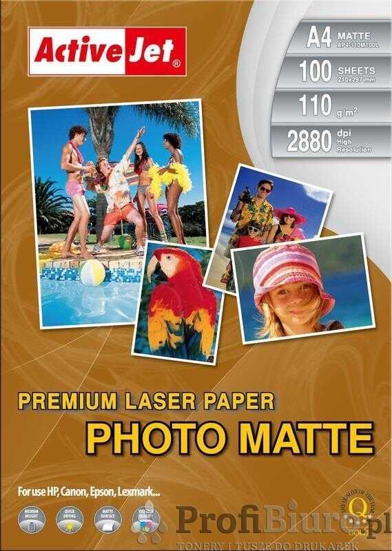 Papier fotograficzny matowy Activejet A4 100 szt. 110 g/m2