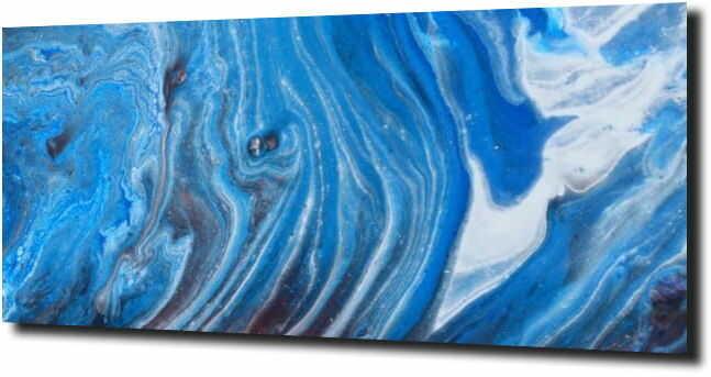 obraz na szkle Abstrakcja marmur niebieski
