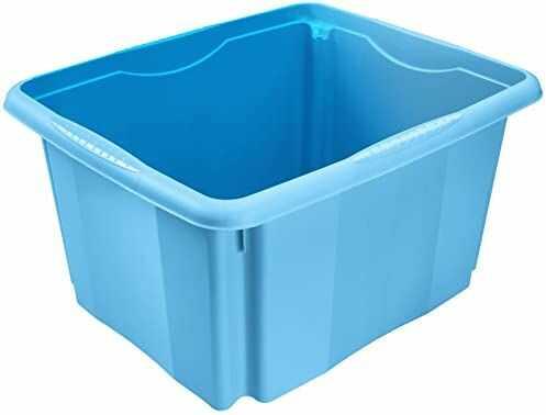 keeeper Pudełko do przechowywania z systemem obracania, 41 x 34,5 x 22 cm, 24 l, Emil, niebieskie