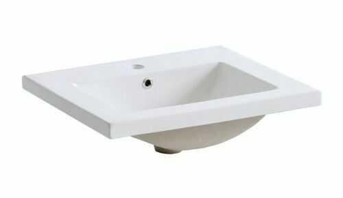 Umywalka ceramiczna 60 cm z otworem na baterię