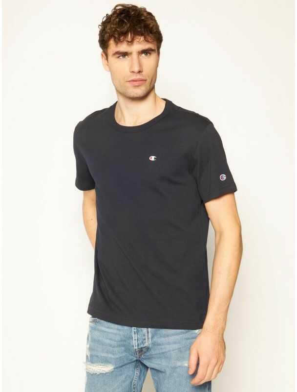 Champion T-Shirt Small C Logo 214674 Granatowy Custom Fit