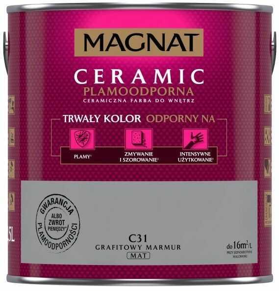 Farba ceramiczna Magnat Ceramic grafitowy marmur C31 2.5L