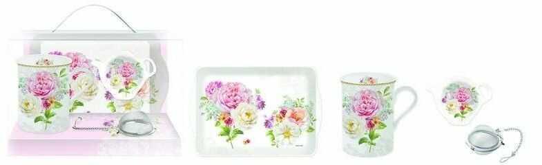 R2s - zestaw prezentowy: kubek, taca, talerzyk na herbat