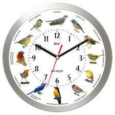 Zegar aluminiowy z głosami 12 ptaków #1B