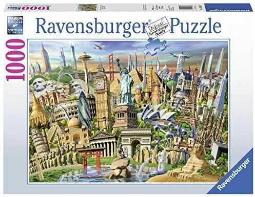 Puzzle Ravensburger 1000 - Światowe zabytki, World monuments