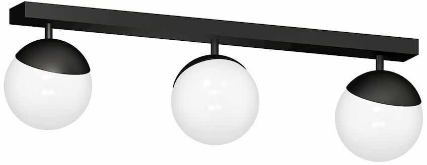 Milagro SFERA BLACK MLP8857 plafon lampa sufitowa czarny klosze kule szkło 3xE14 65cm
