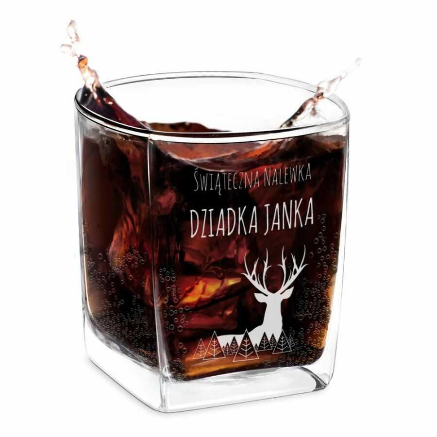 Szklanka do whisky z grawerem dla dziadka na święta