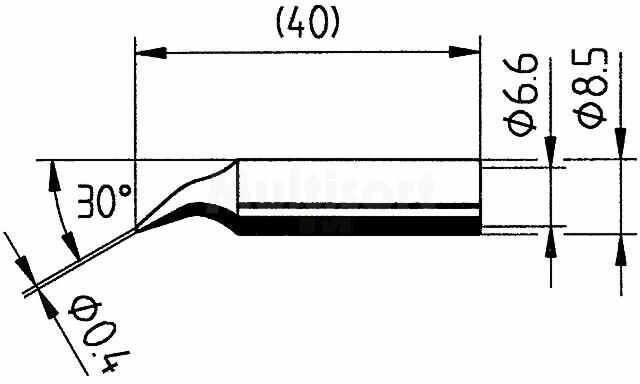 Grot zagięta szpilka 0,4mm do stacji ERSA-RDS80