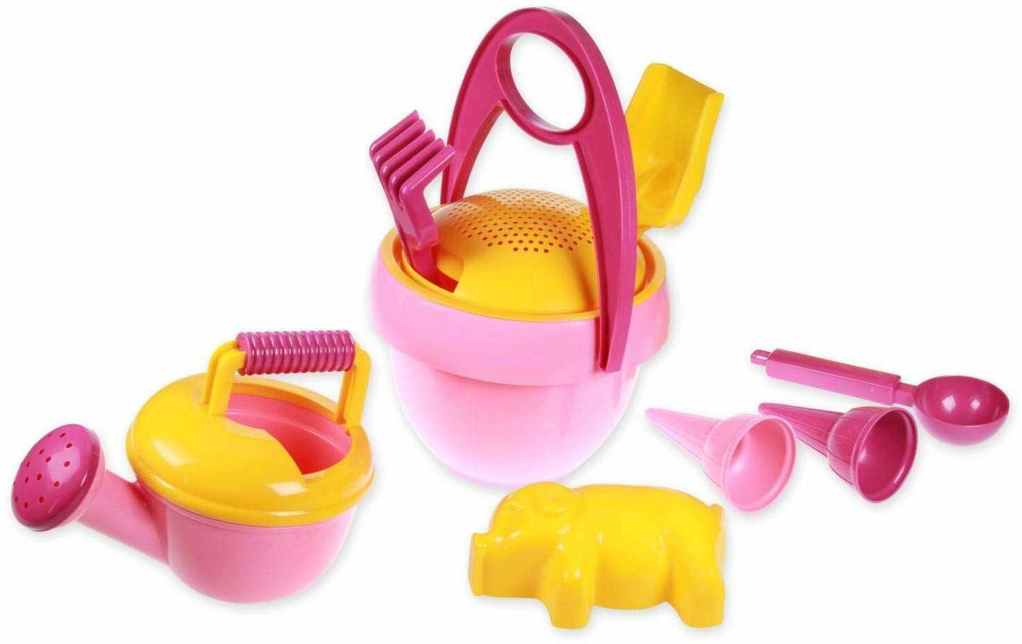 Lena 5421 piaskowa zabawka, różowa, żółta