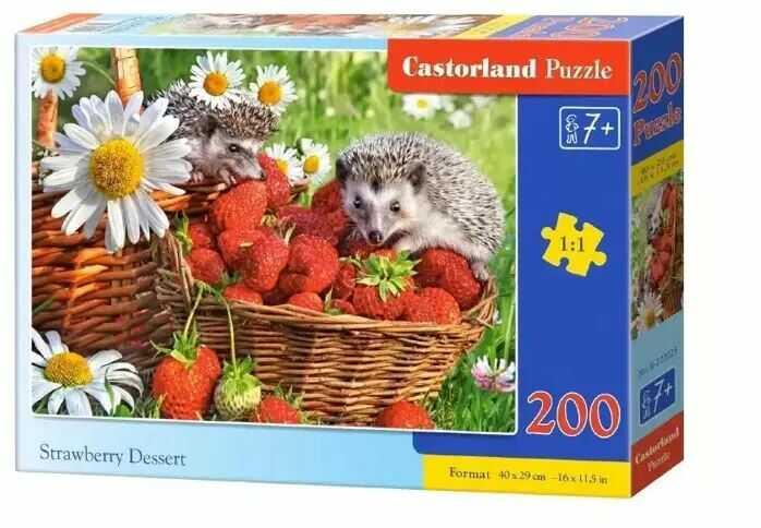Puzzle 200 Strawberry Dessert CASTOR - Castorland