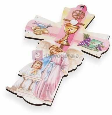 Stylowy Krzyż - Pamiątka I Komunii Św. - dla dziewczynki
