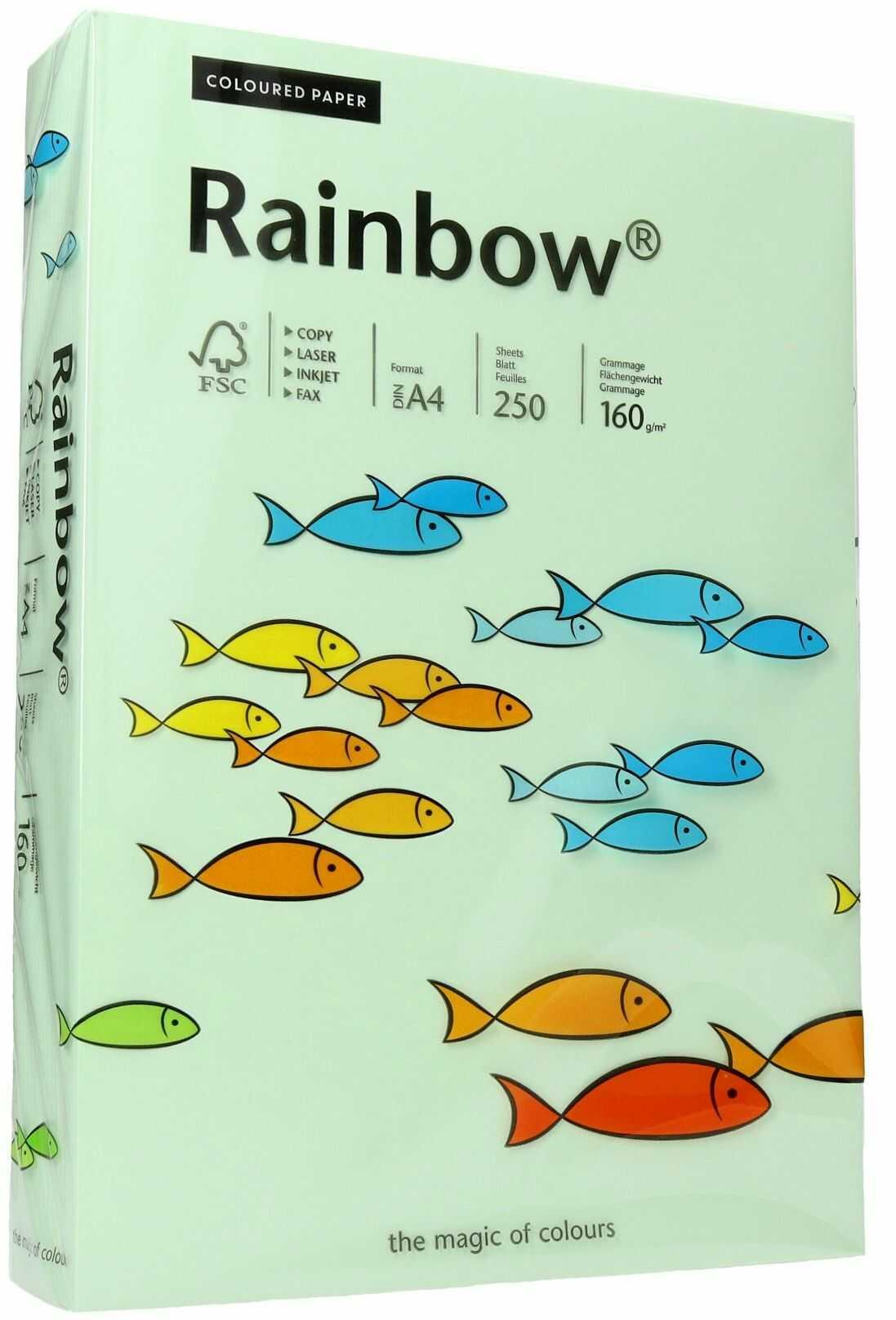 Papier ksero A4 160g jasnozielony Rainbow