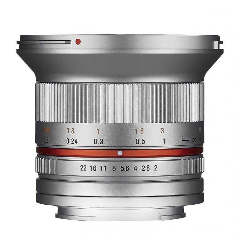 Obiektyw Samyang 12mm F2,0 Olympus micro 4/3 srebrny