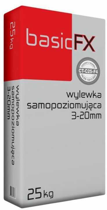 Wylewka samopoziomująca 3 - 20 mm 25 kg BASIC FX