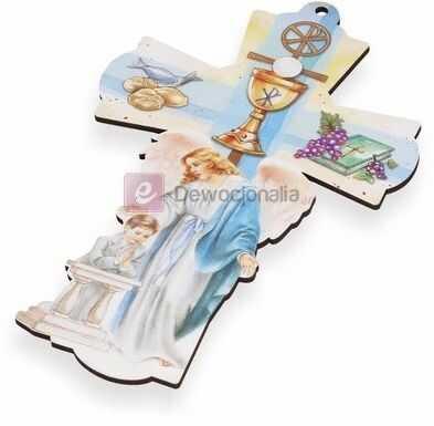 Stylowy Krzyż - Pamiątka I Komunii Św. - dla chłopca
