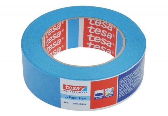 Taśma malarska Tesa do wew. 28 dni i na zew. 14 dni, niebieska, długość 50 m, szerokość 38 mm (04435-00017-00)