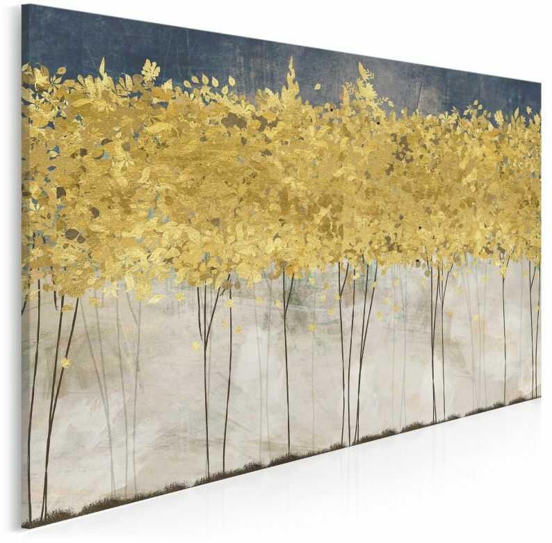 Złote żniwa - nowoczesny obraz na płótnie - 120x80 cm