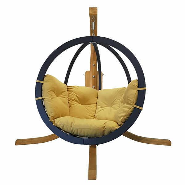 Zestaw: stojak Alicante + fotel Swing Chair Single antracyt, musztardowy Alicante+Swing Chair Single (7)